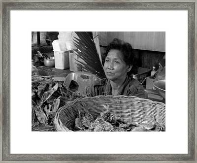 Fish Vendor Framed Print