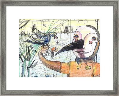 Fish Whistle Framed Print