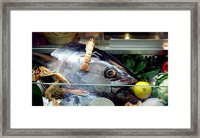Fish With Lemon In Venice Framed Print by Michael Henderson
