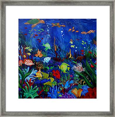 Fish You Dont Feed Framed Print by Nora Niles