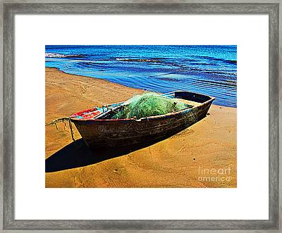 Fisher Boat By Michael Fitzpatrick Framed Print by Mexicolors Art Photography