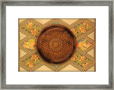 Fisher Building's Hand Painted Ceiling And Medalion  Framed Print
