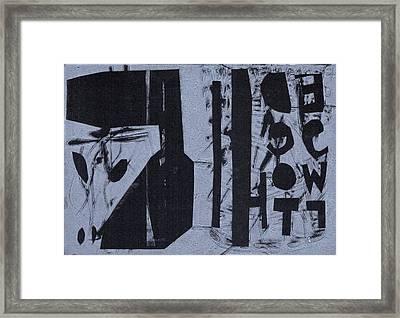 Fisher Covers Reverse White On Black Framed Print