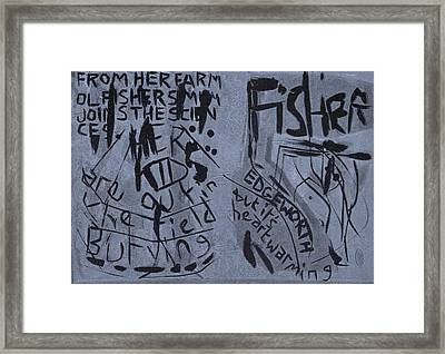 Fisher Covers Unmasked Framed Print