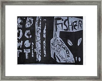 Fisher Covers White On Black Framed Print