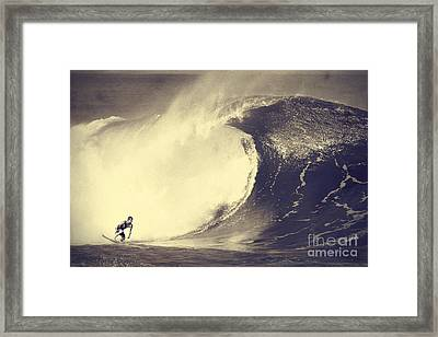 Fisher Heverly At Pipeline Framed Print