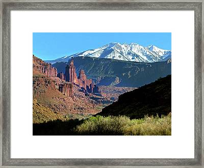 Fisher Towers 1 Framed Print by Jeff Brunton