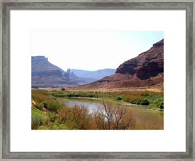 Fisher Towers Framed Print