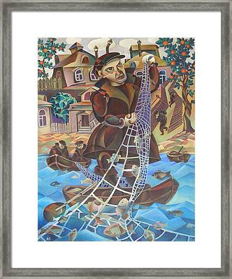 Fisherman Framed Print by Andrey Soldatenko