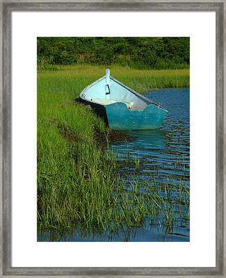 Fisherman Boat Framed Print by Juergen Roth