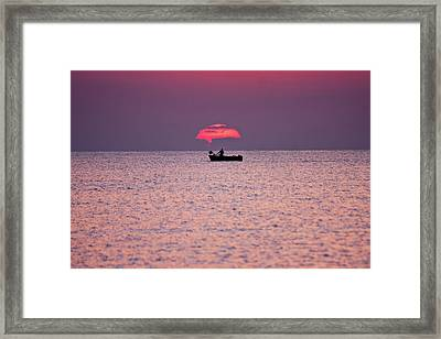 Framed Print featuring the photograph Fisherman by Bruno Spagnolo