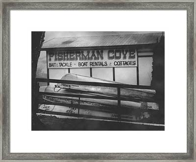 Fisherman Cove Framed Print
