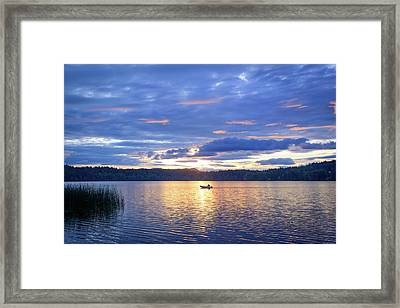 Fisherman Heading Home Framed Print