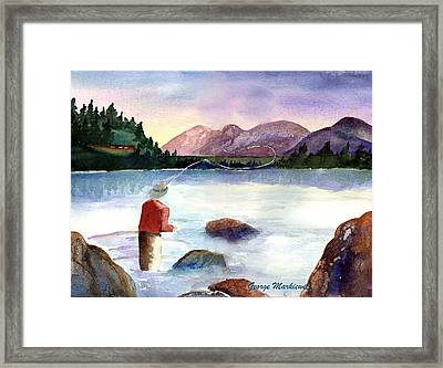 Fisherman In The Morning Framed Print by George Markiewicz