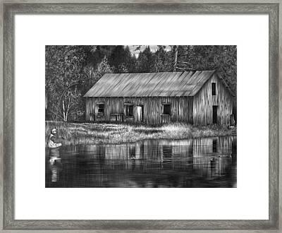 Fisherman Framed Print by Jerry Winick
