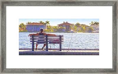 Fisherman Pass A Grille Florida Framed Print