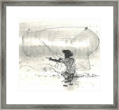 Fisherman Sri Lanka Framed Print by Lincoln Seligman