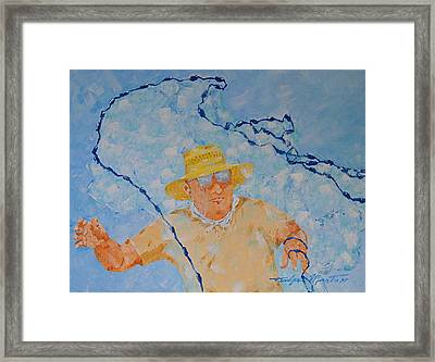 Fishermans Bait Cast Framed Print