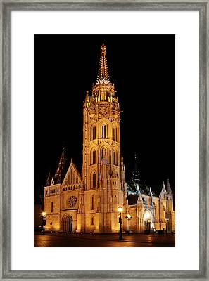 Framed Print featuring the digital art  Fishermans Bastion - Budapest by Pat Speirs