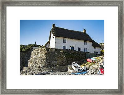 Framed Print featuring the photograph Fishermans Cottage by Brian Roscorla