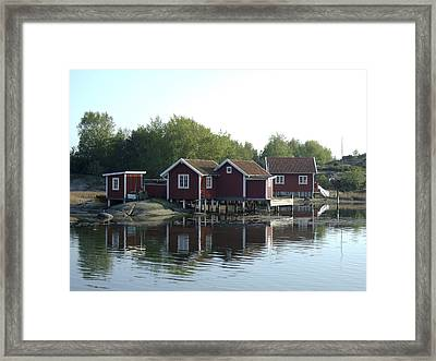 Fisherman's Huts Framed Print by Dan Andersson