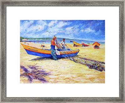 Fishermans Legacy Framed Print by Estela Robles