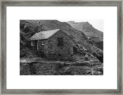 Framed Print featuring the photograph Fishermans Net Shed by Brian Roscorla