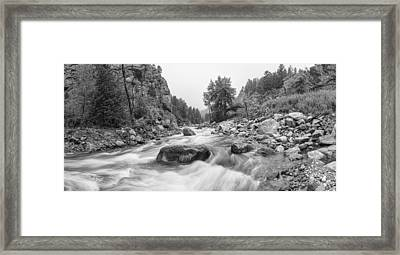 Fisherman's Panorama Colorado Canyon View Bw Framed Print by James BO  Insogna