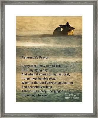 Fisherman's Prayer Framed Print