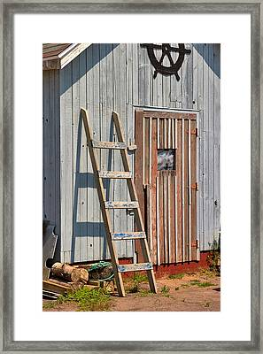 Fisherman's Shed In Prince Edward Island Framed Print by Louise Heusinkveld