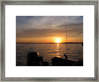 Framed Print featuring the photograph Fishermans Sunset by Jack G  Brauer