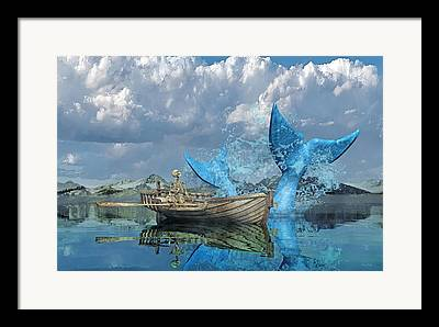 Humpback Digital Art Framed Prints