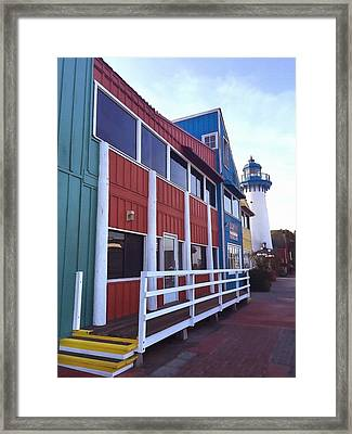 Fisherman's Village Marina Del Rey Framed Print by Art Block Collections