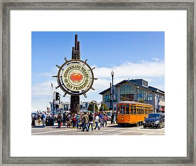Fishermans Wharf - San Francisco Framed Print
