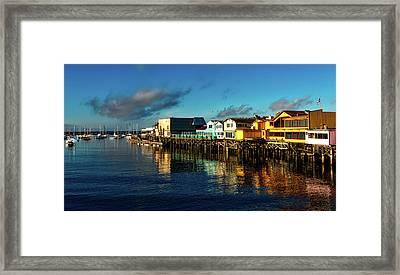 Fisherman's Wharf At Dusk Framed Print