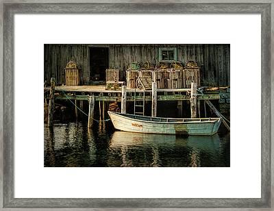 Fisherman's Wharf At Peggy's Cove Framed Print