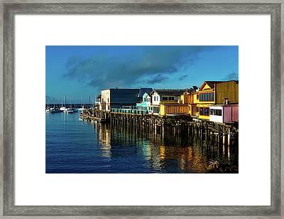 Fisherman's Wharf At Sunset Framed Print
