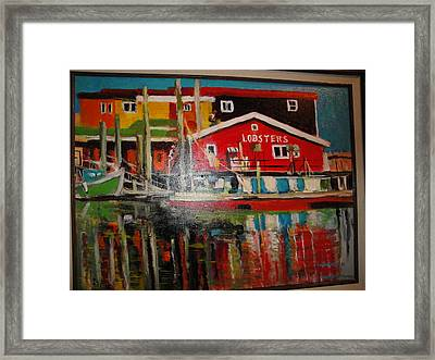 Fishermans Wharf Framed Print by Les Smith