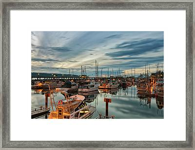 Framed Print featuring the photograph Fishermans Wharf by Randy Hall