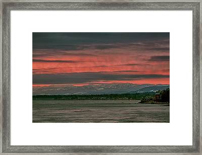 Framed Print featuring the photograph Fishermans Wharf Sunrise by Randy Hall