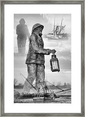 Fishermen - Jersey Shore Framed Print by Angie Tirado