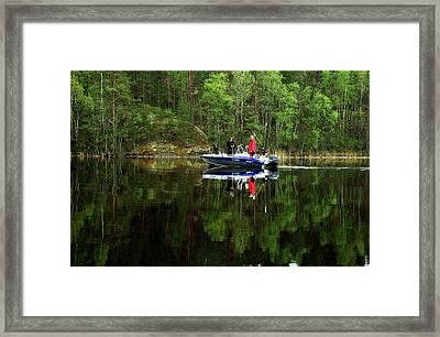 Fishermen At   Lake Saimaa Framed Print