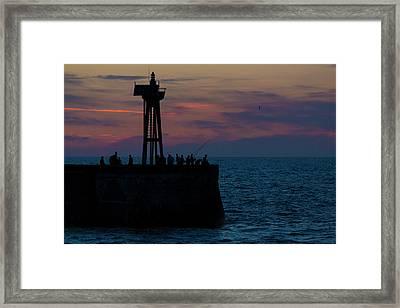Fishermen At Port-en-bessin Framed Print