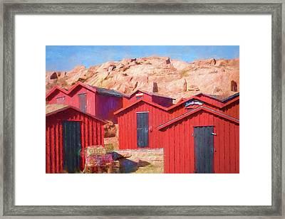 Fishermen Cottages Framed Print