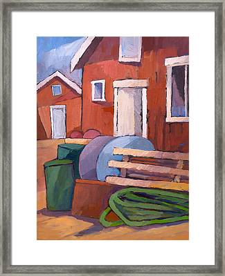 Fishermen Sheds Framed Print by Lutz Baar