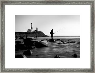 Fishermen's Heart Framed Print