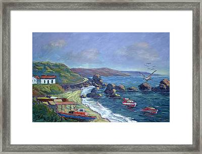 Fishermen's Rocks Framed Print
