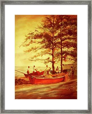 Fishermens Sunset Framed Print by Estela Robles
