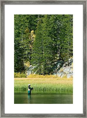 Fisherwoman - Eastern Sierra California Framed Print