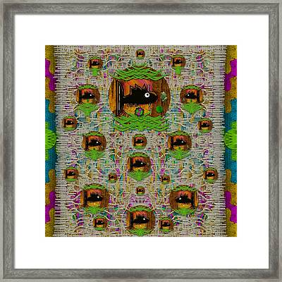 Fishes In A Peacock And Lace Place In Rainbows Framed Print by Pepita Selles